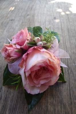snowberry corsage